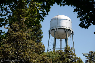 A water tower is seen from the Enloe Conference Center parking lot in Chico, Calif. Thurs. July 13, 2017.  (Bill Husa -- Enterprise-Record)
