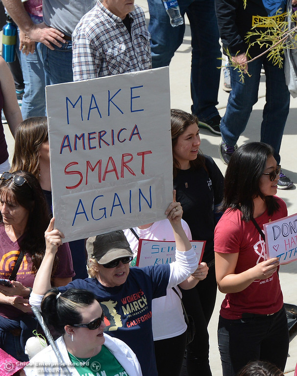. More than 1,200 people march Saturday, April 22, 2017, during the March for Science in Chico, California. (Dan Reidel -- Enterprise-Record)  Butte College plays softball Saturday, April 22, 2017, against College of the Redwoods in Butte Valley, California. (Dan Reidel -- Enterprise-Record)  talk Saturday, April 22, 2017, about their experiences with work going on near their homes along Oregon Gulch Road and 180 View Lane in Oroville, California. (Dan Reidel -- Enterprise-Record)