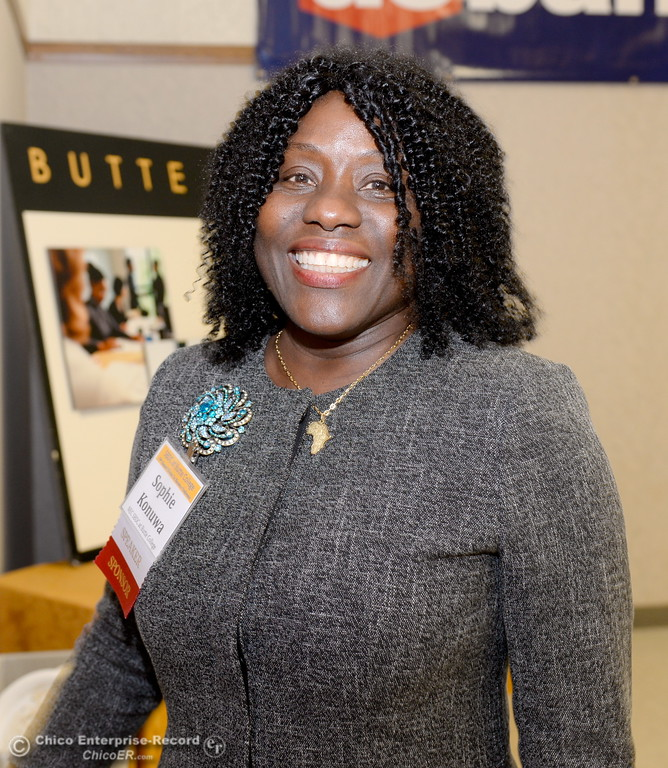 . Sophie Konuwa smiles during the Women in Business conference at the Chico Masonic Family Center in Chico, Calif. Tues. Sept. 26, 2017. (Bill Husa -- Enterprise-Record)