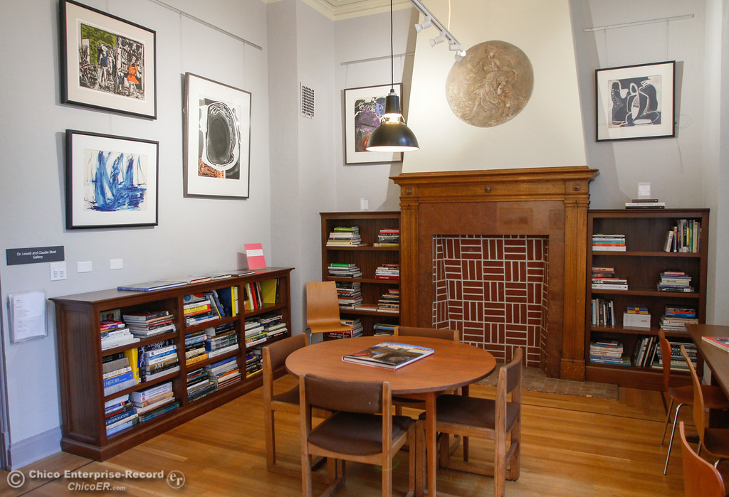 . The library in the Dr. Lowell and Claudia Steel Gallery in the new Museum of Northern California Art Wednesday July 26, 2017 in Chico, California. (Emily Bertolino -- Enterprise-Record)