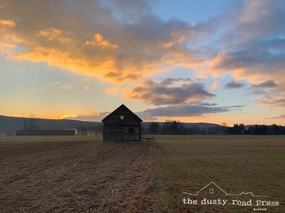 Late Sun Sky Barn