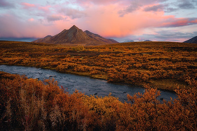 A stormy sunset in The Yukon