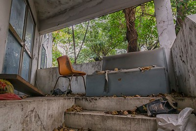 Abandoned Ka Ru Na Pitak Hospital in Yannawa district, Bangkok