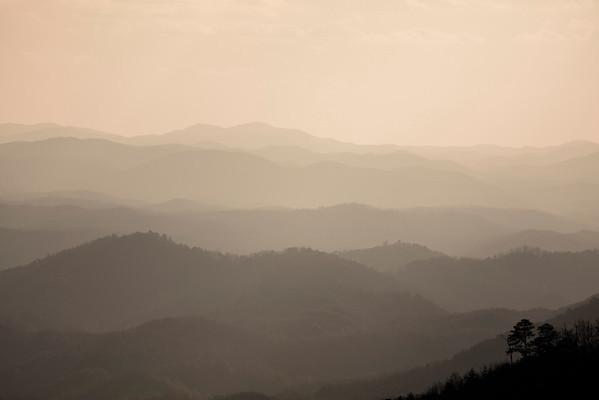Smokey Mountains in the Haze