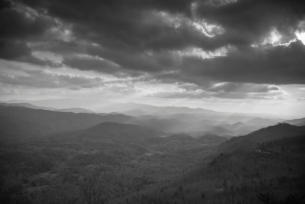 Smokey Mountain Dramatic Morning