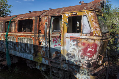 at the train graveyard, Bang Sue District, Bangkok