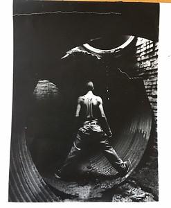 rough print of urban, underground exploration