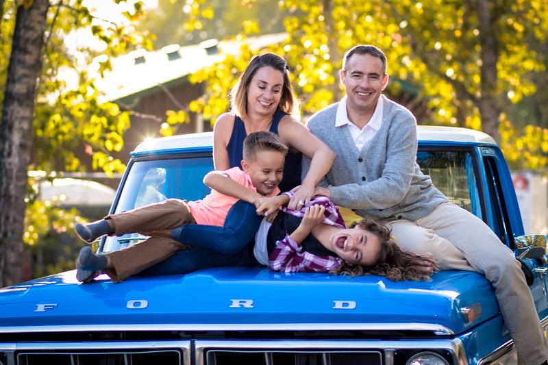Fall Family Photos near Red Deer BMX park