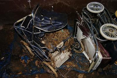 Storage damage 2008-2015. rust, rodents and rain.