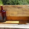 I just made this shelf to hold my antique Whiskey bottles (full of Whiskey of course). I'll hang it on the wall after the bar is assembled.