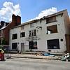 The Castle Inn, Old Coleham just before demolition.