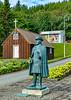 Iceland-Akureyri-Jón Sveinsson statue