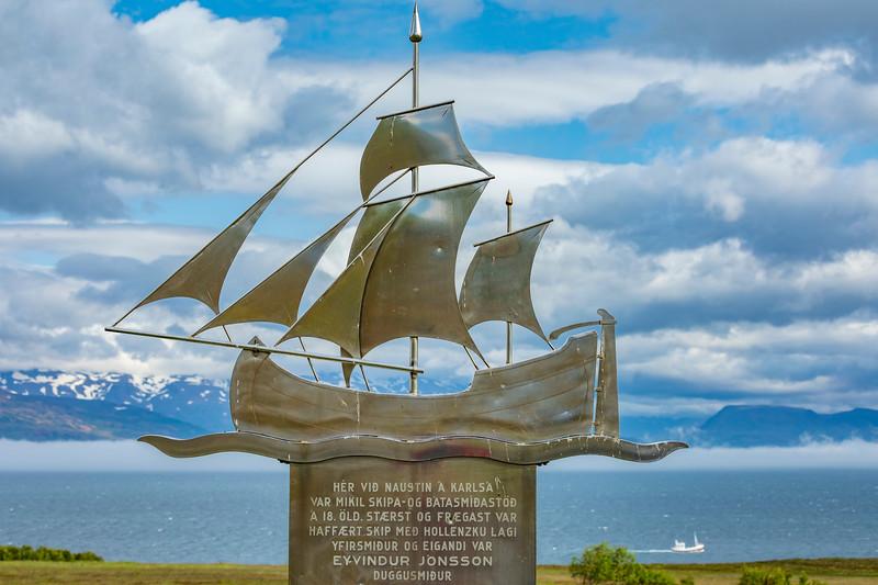Iceland- Dalvík-Monument to Duggu-Eyvindur Jónsson