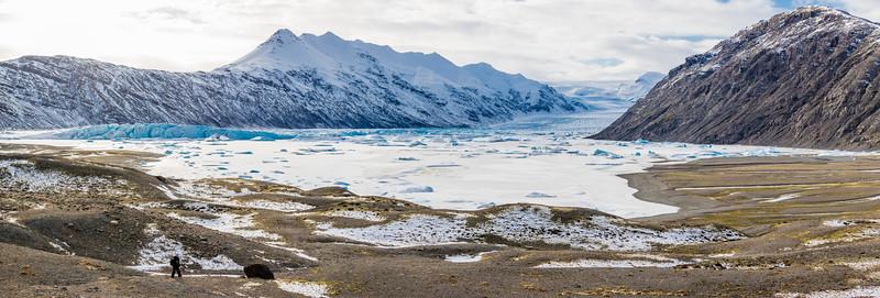 Iceland-Heinabergsjökull glacier-Heinabergslón glacier lagoon
