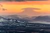 Iceland-NATIONAL PARK VATNAJOKULL-Snafell [Mt. Snafell]-Lenticular cloud