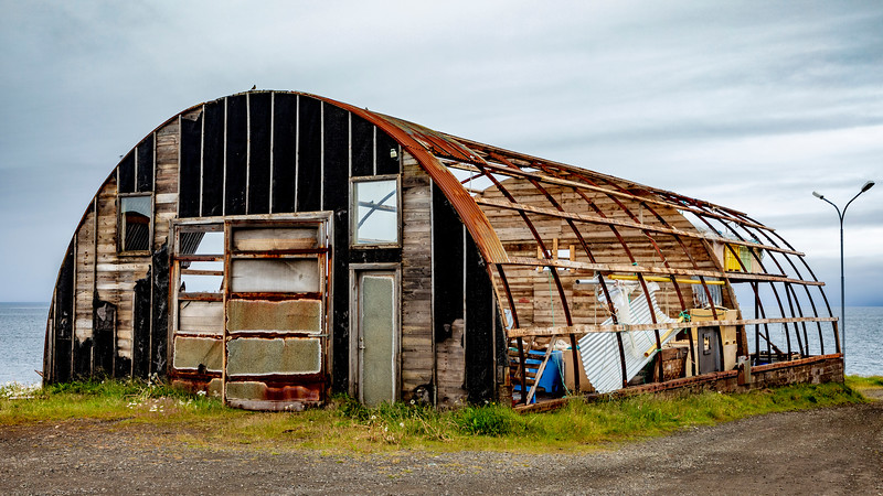 Iceland-Bakkafjörður-Quonset hut
