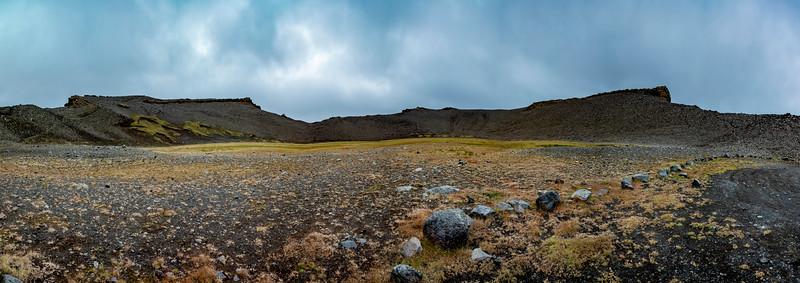 Iceland-Hrossaborg, [crater]