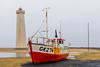 Iceland-REYKJANES PENINSULA-Garður-New and old Garður lighthouses