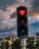Iceland-Akureyri-Heart stop light