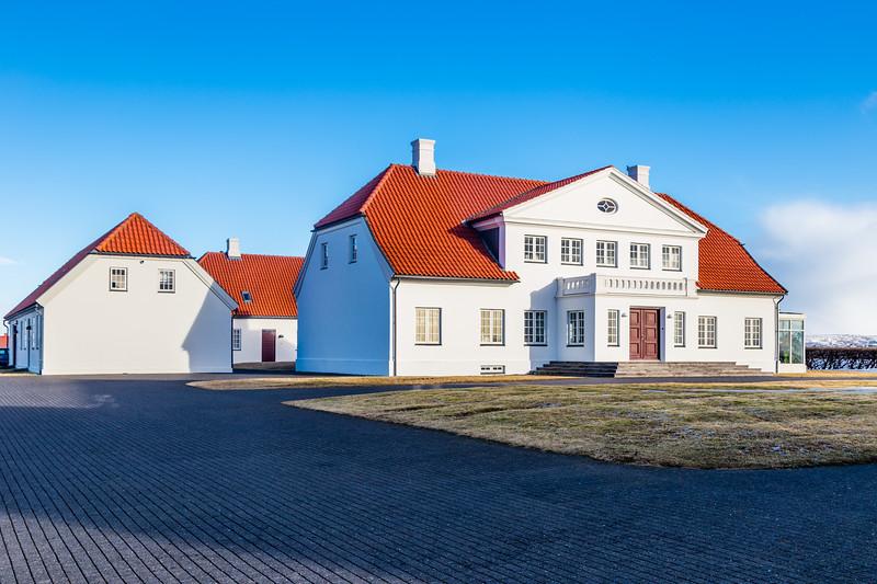 ICELAND-Bessastaðir-Presidential residence and church