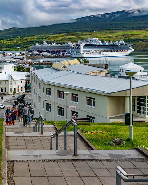 Iceland-Akureyri harbor
