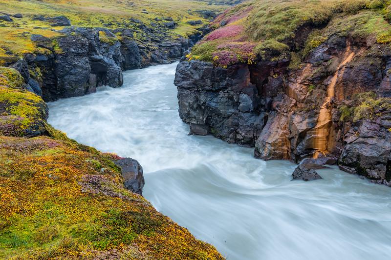 ICELAND-Interior Highlands-Jökulfall