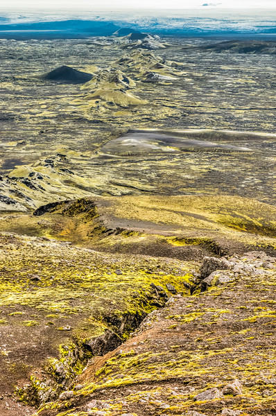 ICELAND-HIGHLANDS-LAKI facing toward Vatnajökull