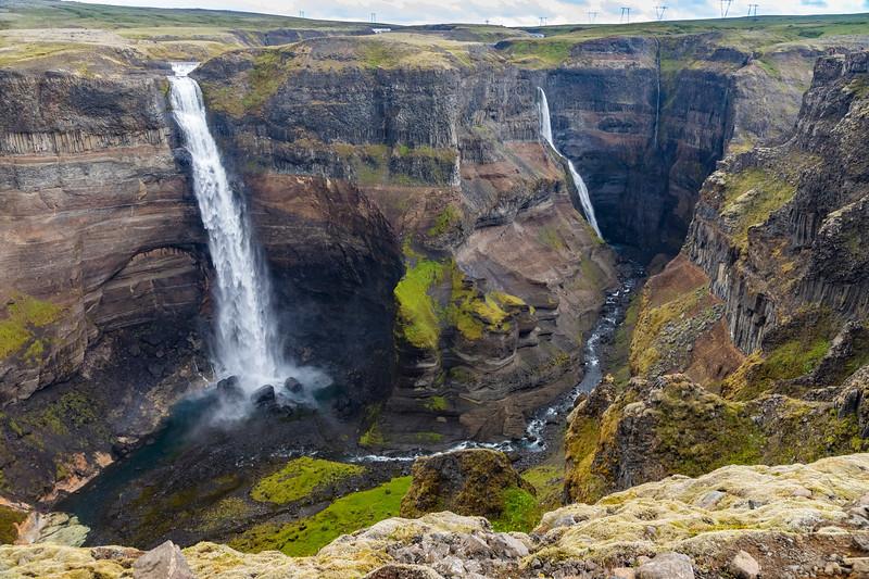 Iceland-Haifoss and Granifoss