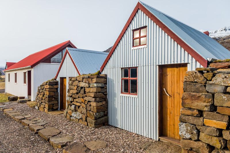 Iceland-Berufjörður-Berufjörður farm and church