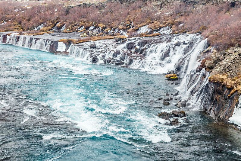 ICELAND-Hraunfossar Lava Falls