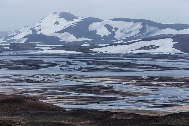 Iceland-Highlands-Fjallabak Nature Reserve-Braided river