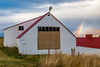 ICELAND-Glæsibær-barn and rainbow