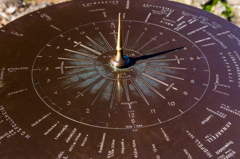 Iceland-Thingvellir National Park-Sun dial