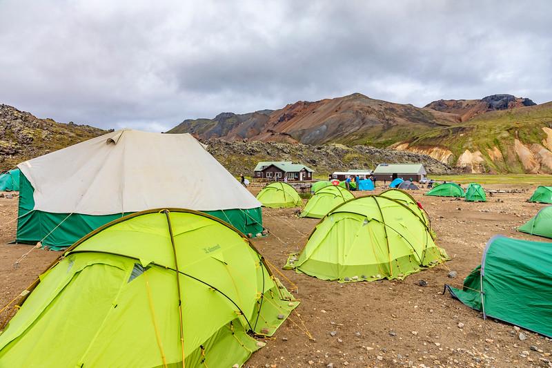 Iceland-Fjallabak Nature Reserve-Landmannalaugar-Camp area