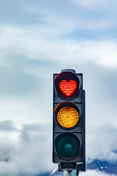 Iceland-Akureyri-Heart stop light