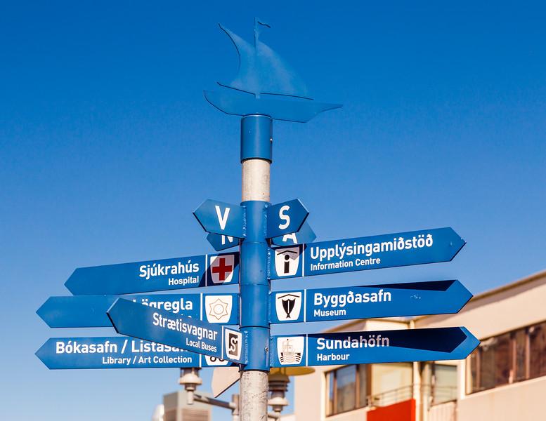 Iceland-Westfjords-Isafjordur-Sign post