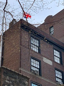 The flag flying above the Parish House, normally the St George Flag, has been changed to the Union Flag and wiil fly at half-staff until Saturday