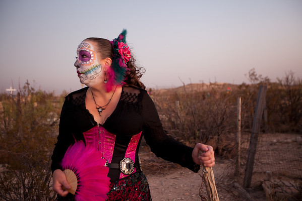 "MZ Peach on the ""Day of the Dead"" in Terlingua, Texas."