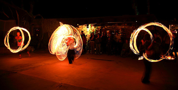 "Fire Dance at ""La Kiva"", Terlingua, Texas."