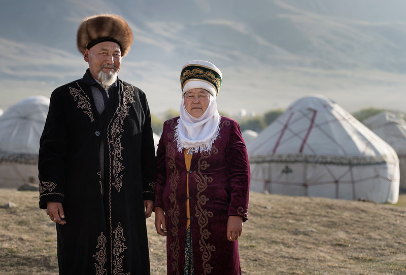 An early morning in a yurt camp with a lovely Kyrgyz family