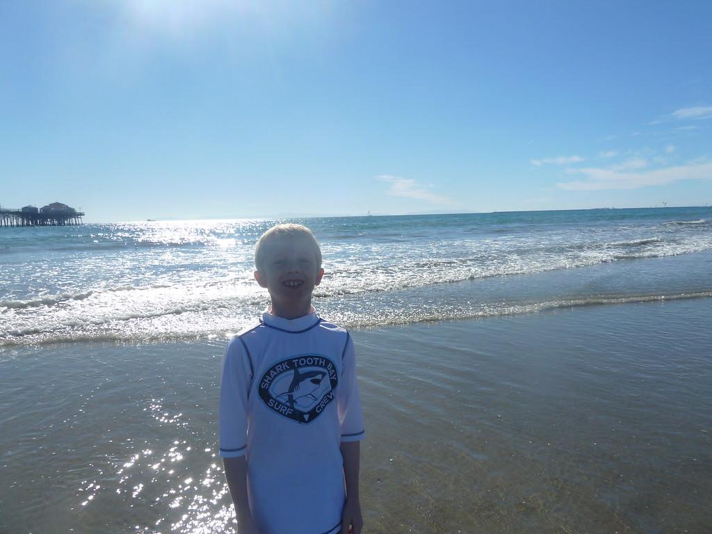 Elliott in the ocean