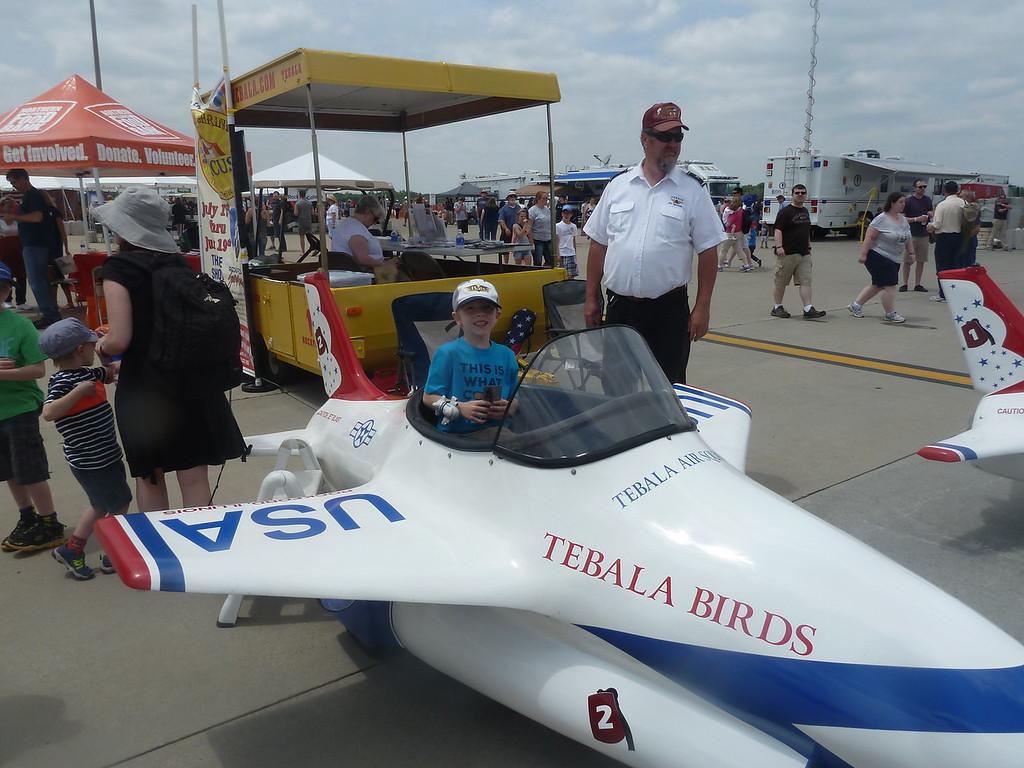 Elliott at the Rockford Air Show