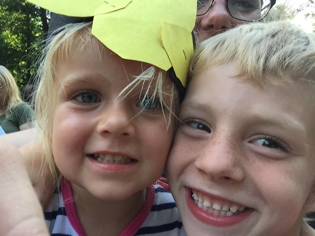 Soren and Caroline at Camp Winnebago