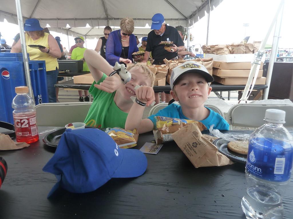 Elliott and Soren at the Rockford Air show