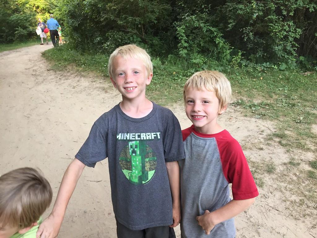 Soren and Elliott at Camp Winnebago