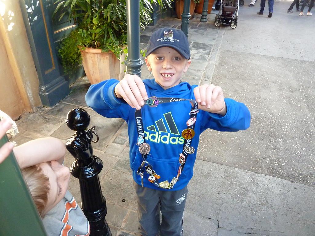 Elliott with his Disney Pins