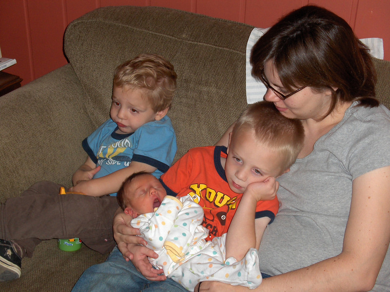 Mommy with her boys