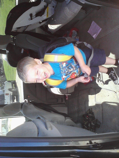 Soren's first day of preschool