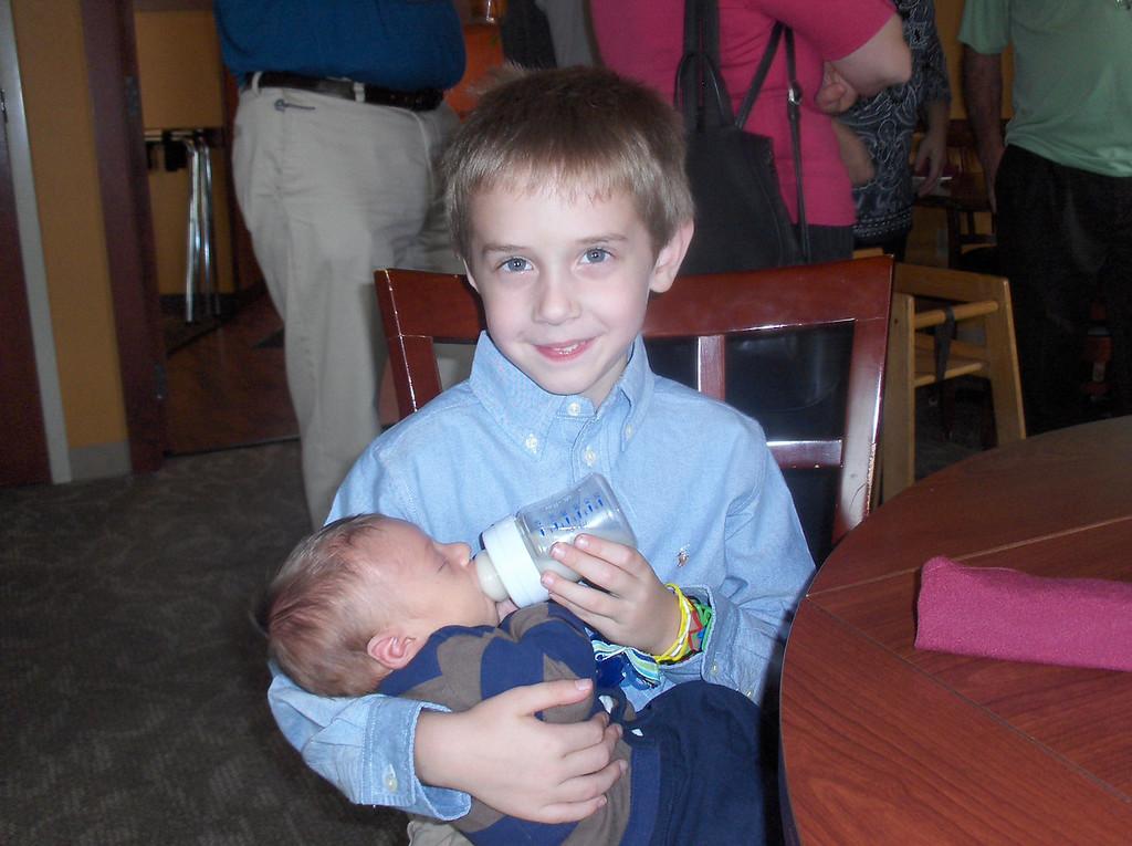 Gavin feeding Ferris