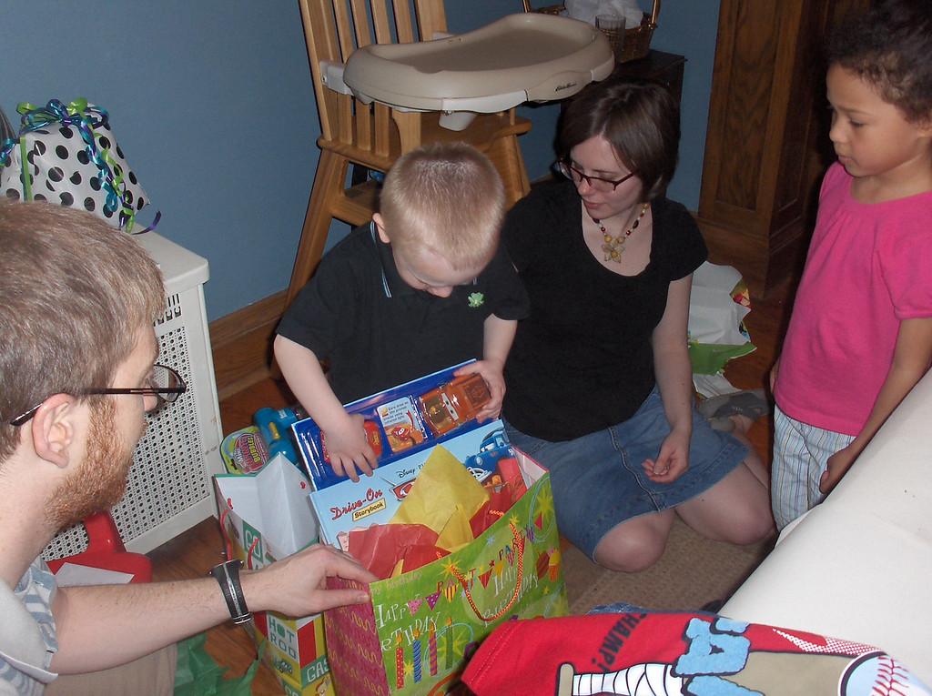 Soren's 1st Birthday party, April 2009